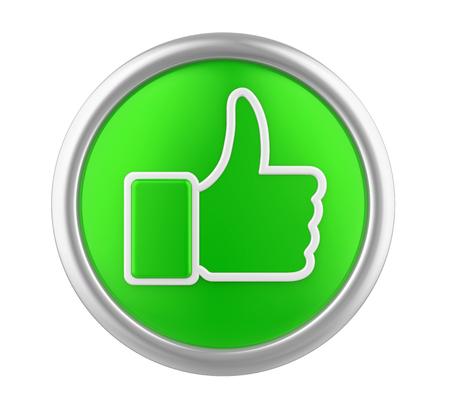 Thumb Up Icon Isolated Stock Photo - 114030848