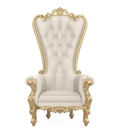 Sedia del trono isolata Archivio Fotografico