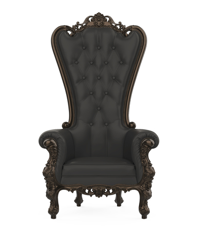 Black Throne Chair Isolated Zdjęcie Seryjne