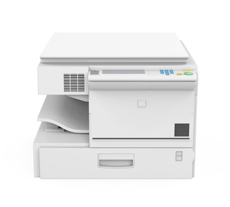 Multifunction Printer Isolated Stok Fotoğraf