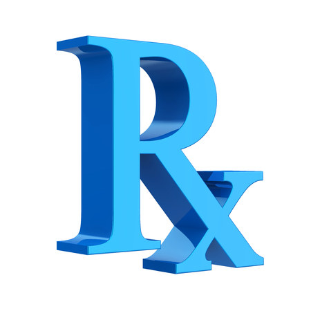 RX Prescription Medicine Symbol Isolated Stock Photo