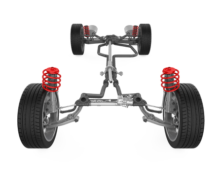Car Suspension System Isolated