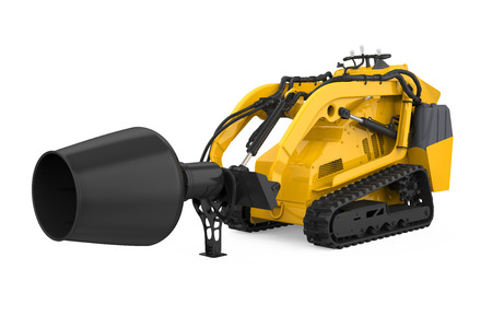 Skid-steer Concrete Mixer Isolated