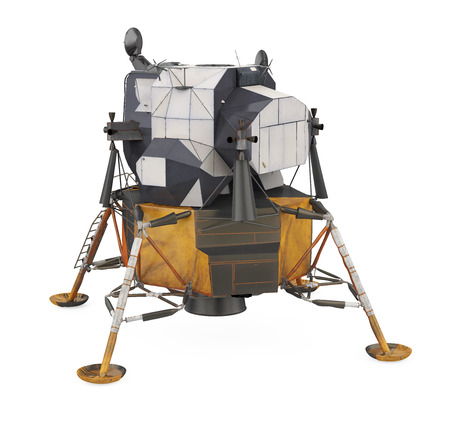 Apollo Lunar Module Isolated Banque d'images
