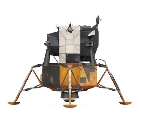 Modulo lunare Apollo isolato Archivio Fotografico