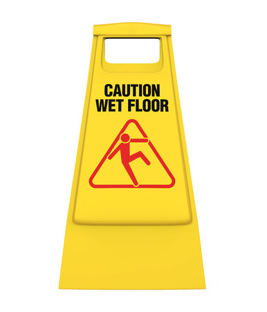 Wet Floor Sign Isolated Imagens
