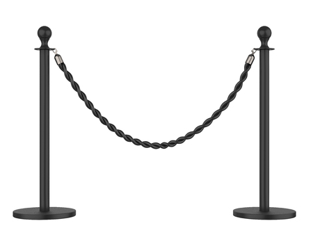 Barrier Rope Isolated