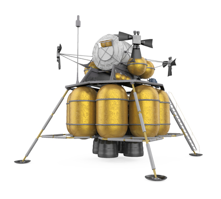 Lunar Lander Spacecraft Isolated Stock Photo