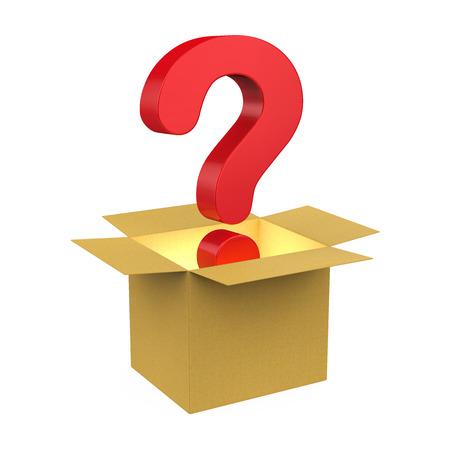 Mystery Box Isolated Banco de Imagens