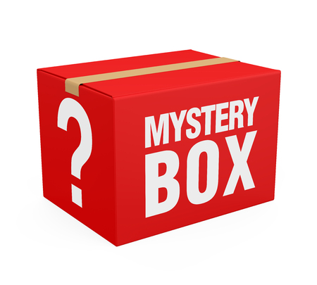 Mystery Box Isolated Banque d'images