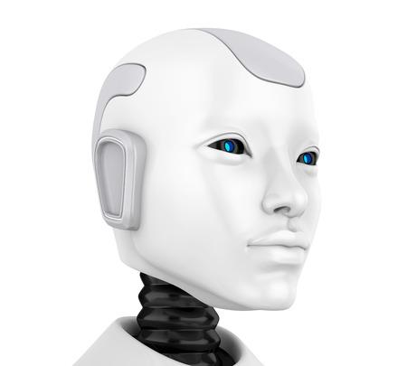 Illustratie van het robothoofdgezicht Stockfoto