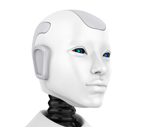 Illustrazione del viso della testa del robot Archivio Fotografico