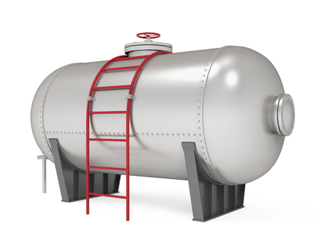 Pressure Vessel Tank Isolated Stock Photo