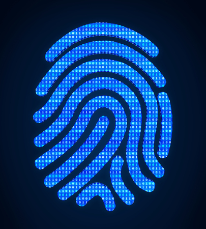 Biometric Fingerprint System Illustration Imagens