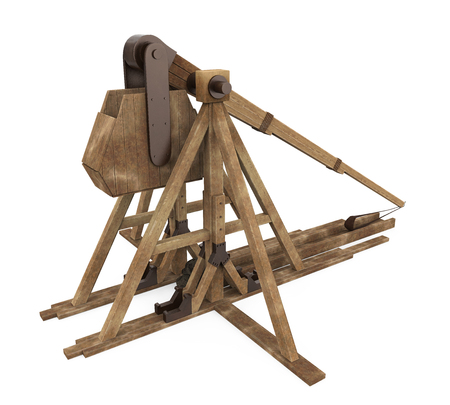 Trebuchet Siege Weapon Isolated