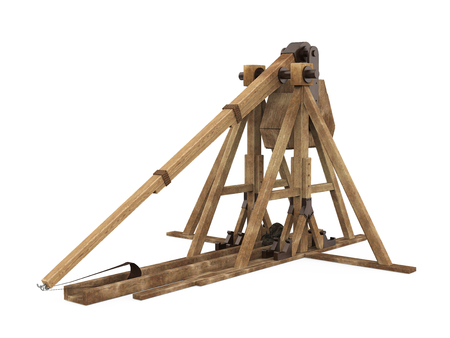 Trebuchet Siege Weapon Isolated