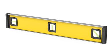 Yellow Spirit Level Isolated