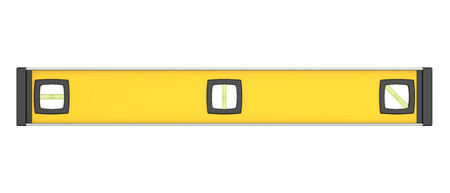 Yellow Spirit Level Isolated