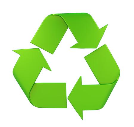 Recycleer Geïsoleerdt Teken Stockfoto