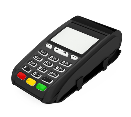 POS Terminal Credit Card Machine Isolated