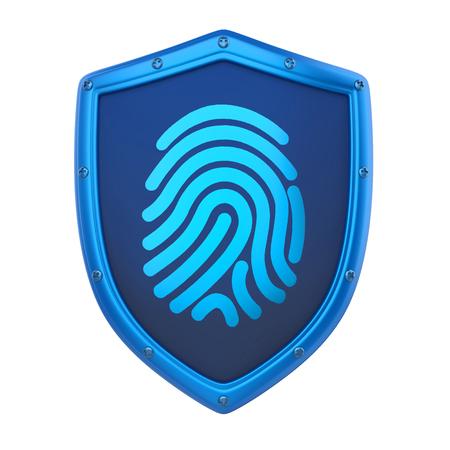 Shield Fingerprint Isolated