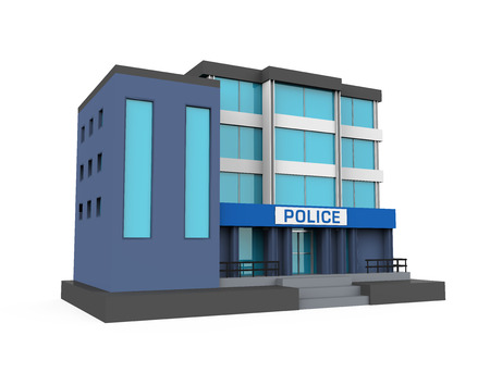 Police Station Building Icon Isolated