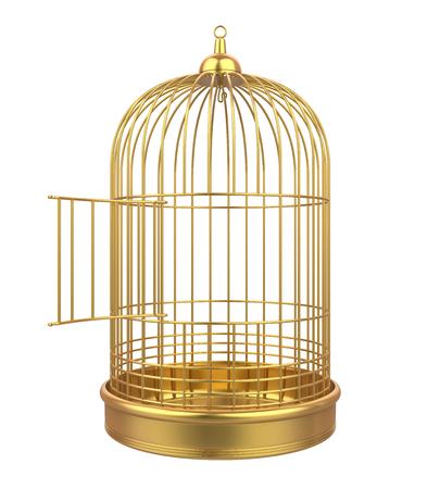 Vogelkäfig Isoliert Standard-Bild