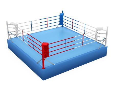 Ring bokserski na białym tle Zdjęcie Seryjne