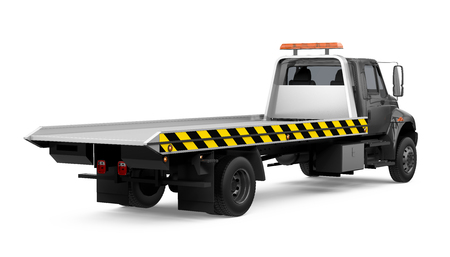 Tow Truck Isolated Stock Photo