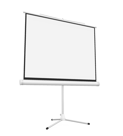 Blank Projector Screen Isolated