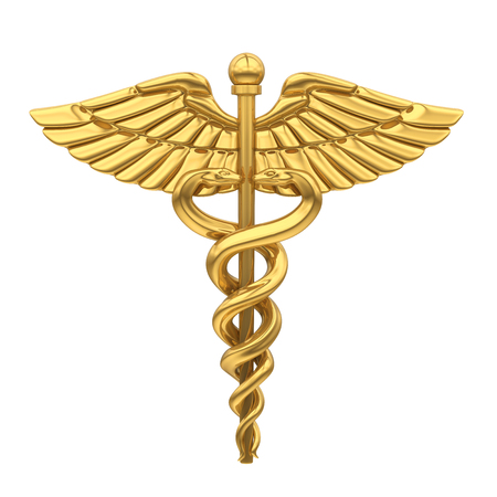 Caduceus medizinisches Symbol isoliert