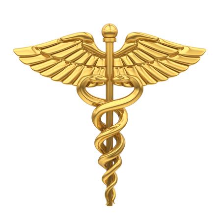 Simbolo medico del caduceo isolato
