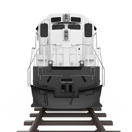 Locomotiva diesel treno isolato