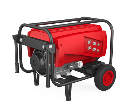 Red Generator Isolated
