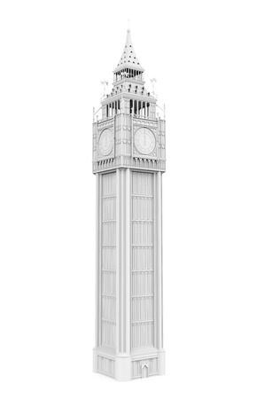 White Big Ben Isolated