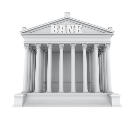 Edificio della banca isolato Archivio Fotografico