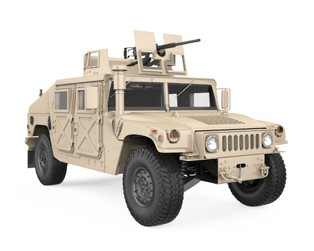 Humvee High Mobility Multipurpose Wheeled Vehicle Isolated