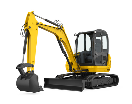 Mini Excavator Isolated Banque d'images - 122810828
