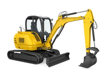Mini Excavator Isolated Stock fotó - 122810831