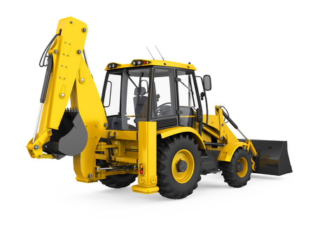 Backhoe Loader Isolated