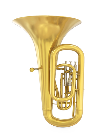 Tuba Musical Instrument Isolated Stock fotó