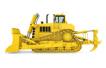 Bulldozer giallo isolato