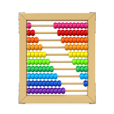 Colorful Abacus Isolated Stockfoto