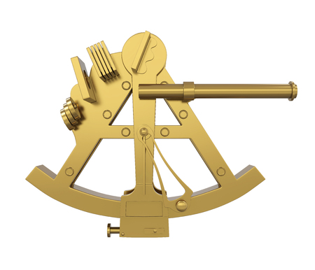 Marine Sextant Navigation Isolated