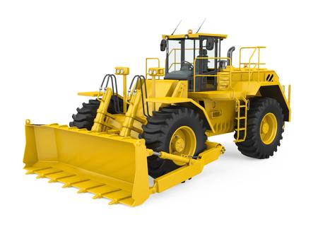 Bulldozer de ruedas aislado