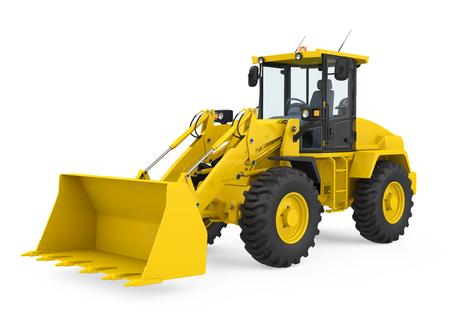 Bulldozer de chargeuse sur pneus isolé