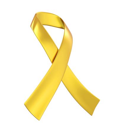 Childhood Cancer Awareness Ribbon Isolated Stock Photo - 124340574