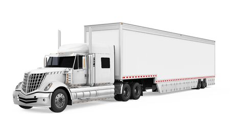 Trailer Truck Isolated
