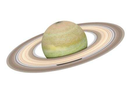 Planet Saturn Isolated