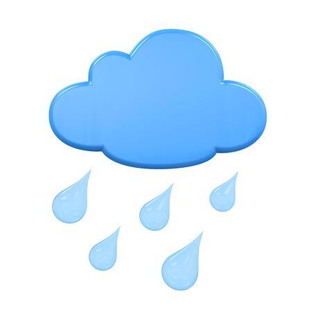 Weather Icon Rain Stock Photo